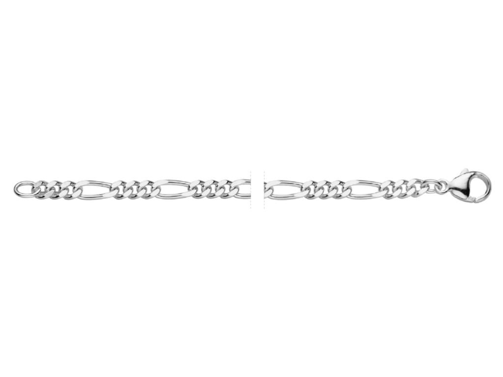 Zilver figaro collier 371355.14.500