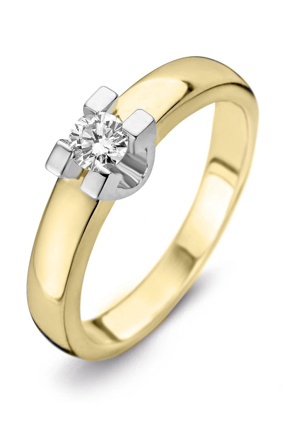 Geelgouden ring 0,26crt SOL-M722-025-G1