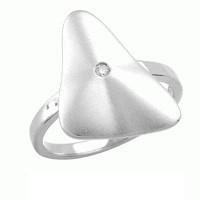 Zilveren damesring met diamant RNC17536001