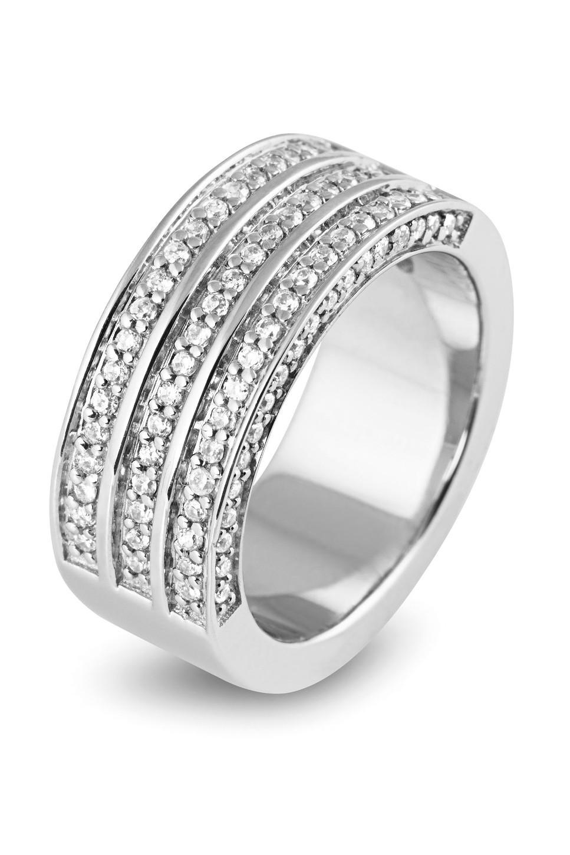 Zilveren damesring met zirkonia 625560081