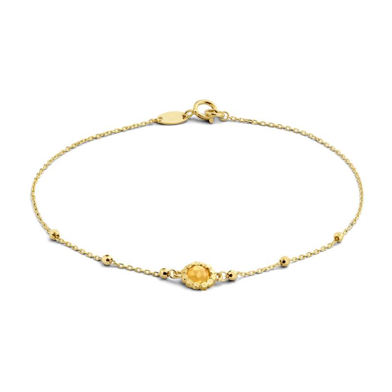 Geelgouden armband met citrien 12B0020