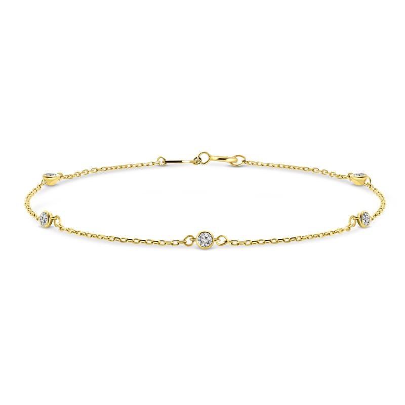 Geelgouden armband met zirkonia FFOR6B3031-FCZ