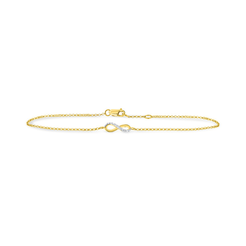 Gouden infinity armband diamant 643001ED