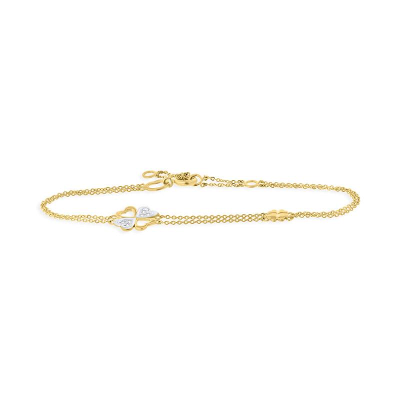 Geelgouden armband met zirkonia B01-59008-Z