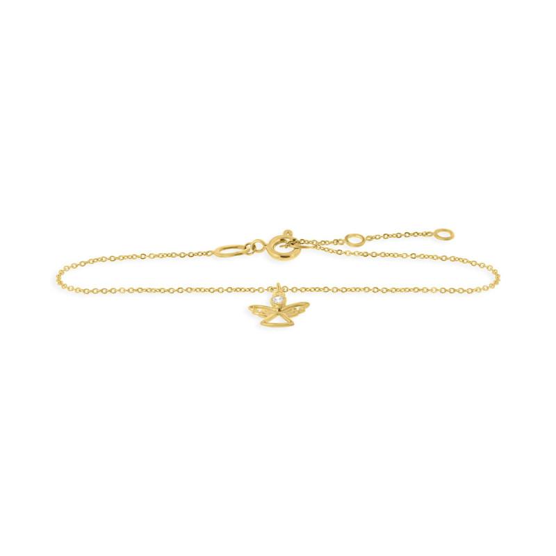 Geelgouden armband met engel 59019Z-Y