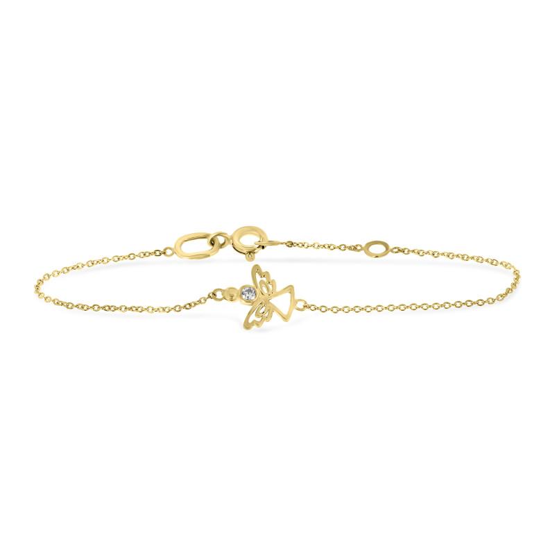 Geelgouden armband met engel B01-59018-Z-Y