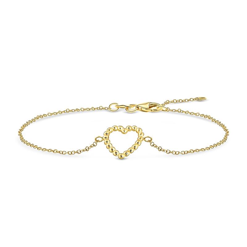 Geelgouden armband met hart