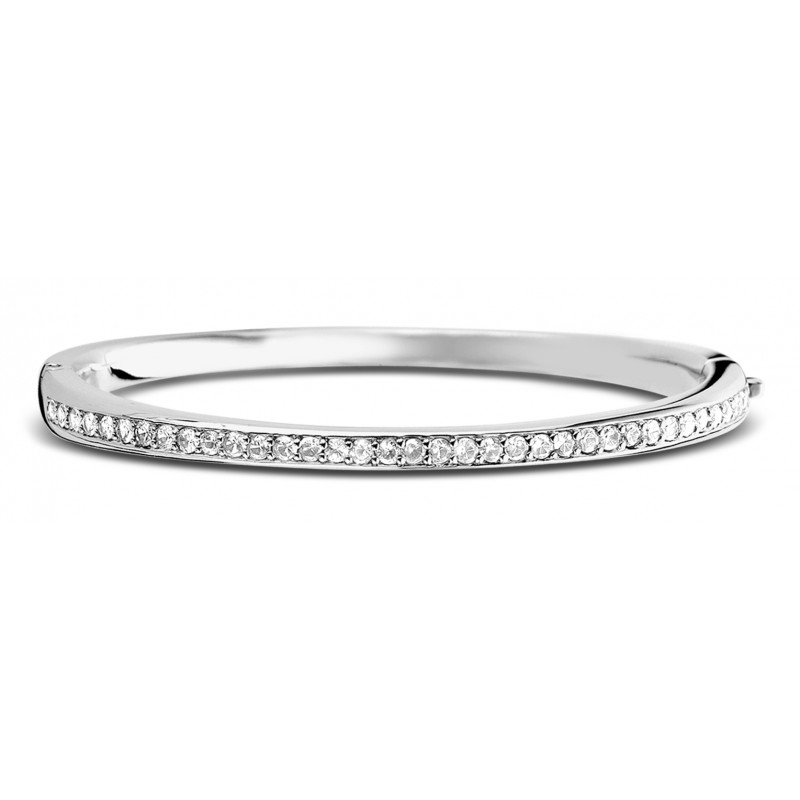 Zilveren bangle met zirkonia 2298ZI