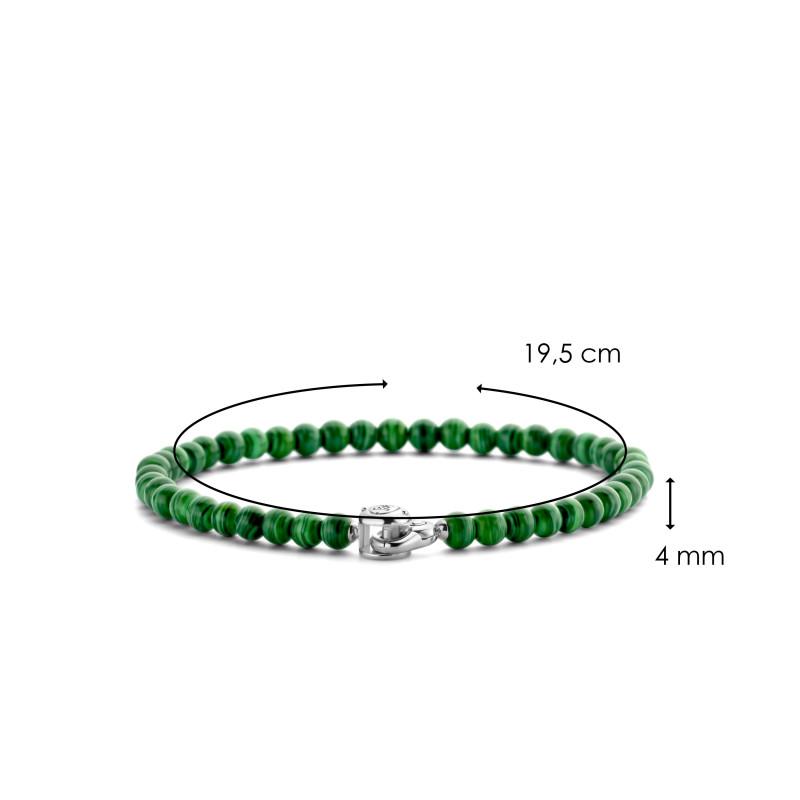 Zilveren armband met malachiet 2908MA