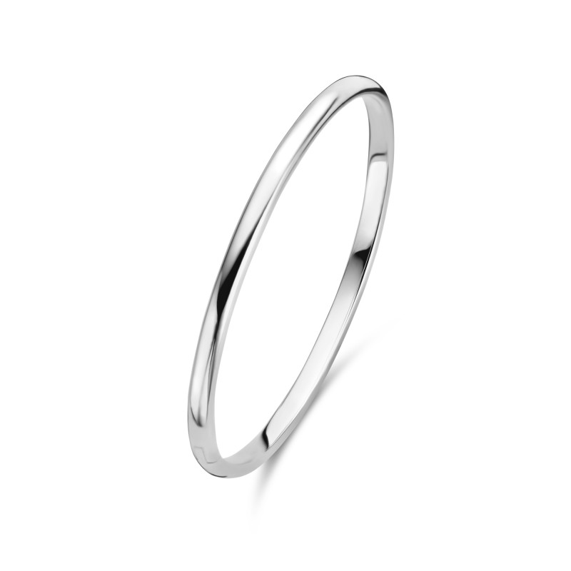 Zilveren massieve bangle - 4mm