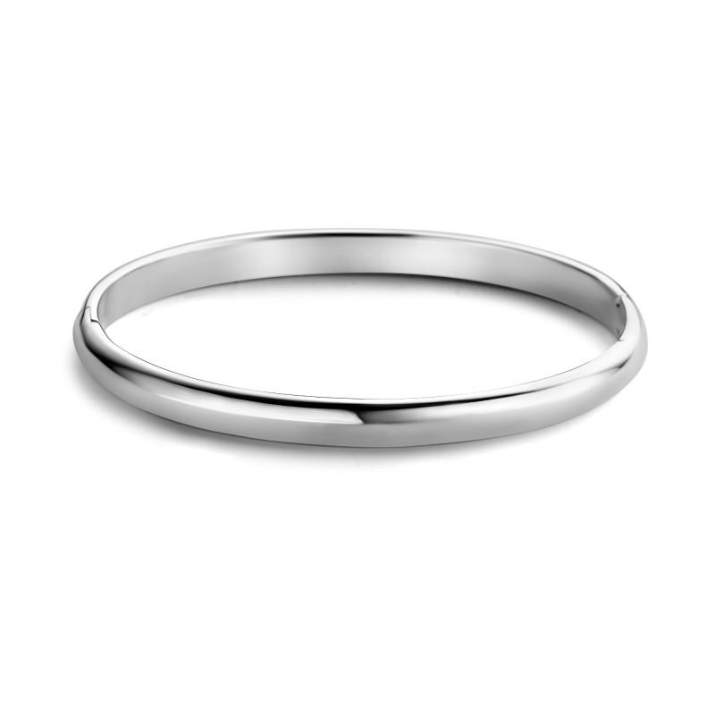 Zilveren ovalen bangle 1041156-6MM