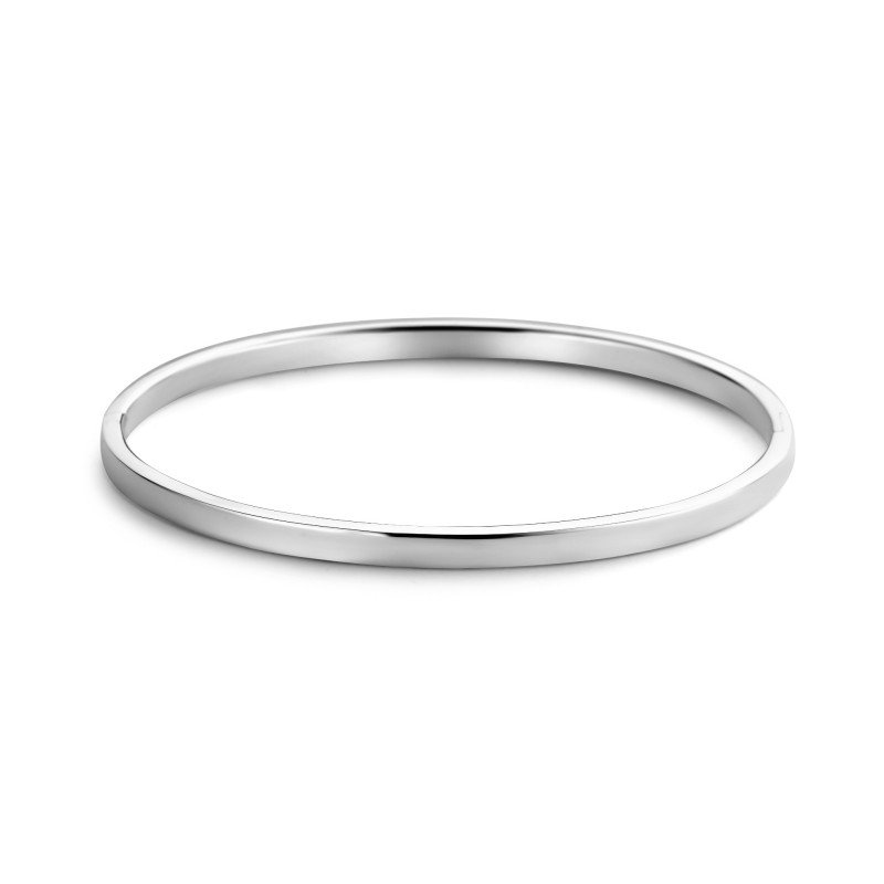 Zilveren massieve bangle 4mm 1041158-4MM
