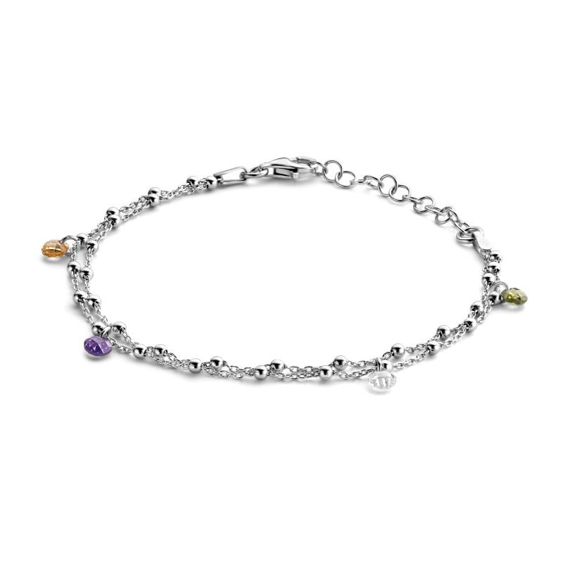 Zilveren armband met zirkonia FS994-039-R