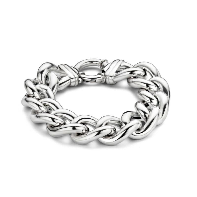 Zilveren schakelarmband F46