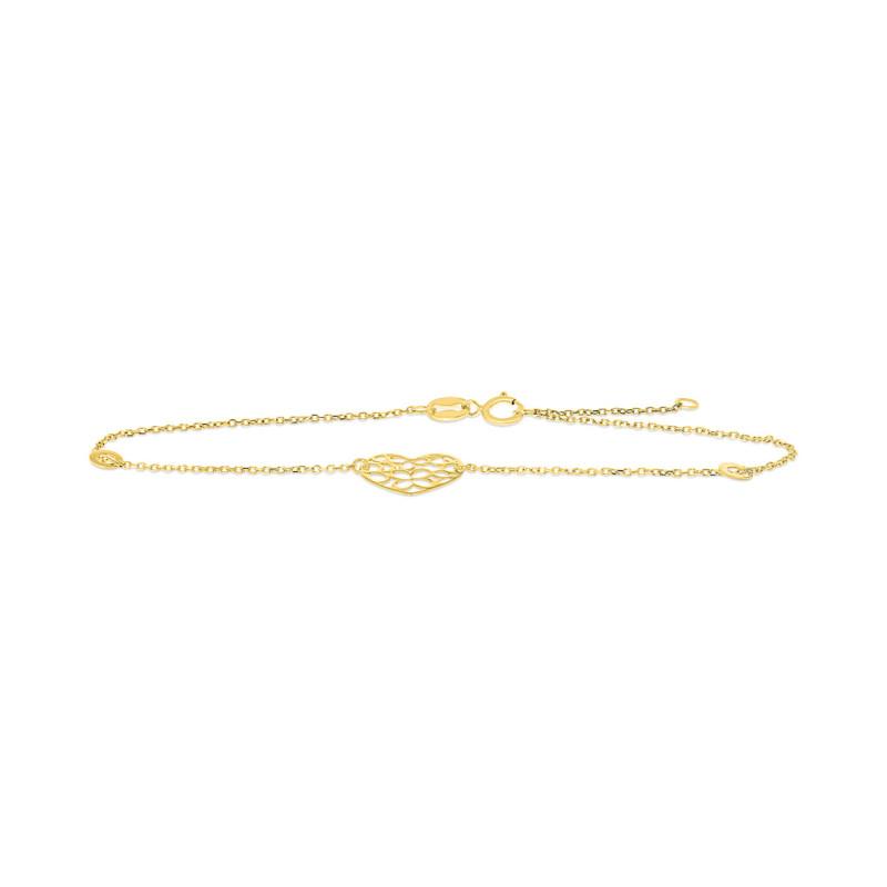 Geelgouden armband met hart FG083-296