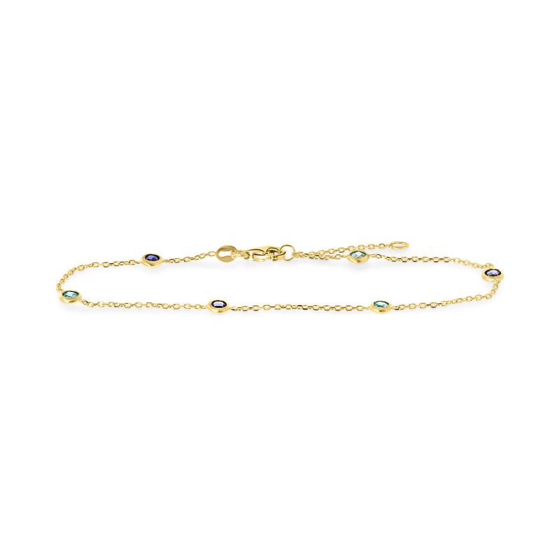 Gouden armband met zirkonia FG417-143