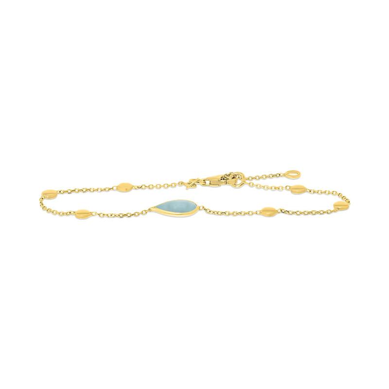 Geelgouden armband met aquamarijn FG882-352