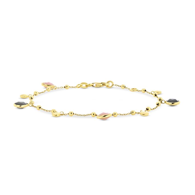 Gouden armband met labradoriet en opaal FG882-875