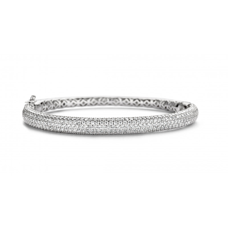 Zilveren bangle met zirkonia MJ1375CB