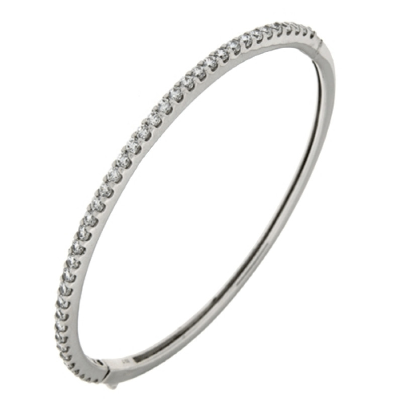 Zilveren bangle met zirkonia MJ1685-2.3-1CB
