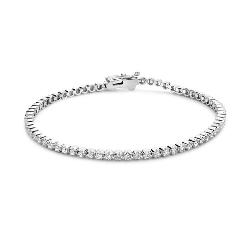 Zilveren tennisarmband TC001-1.75CB