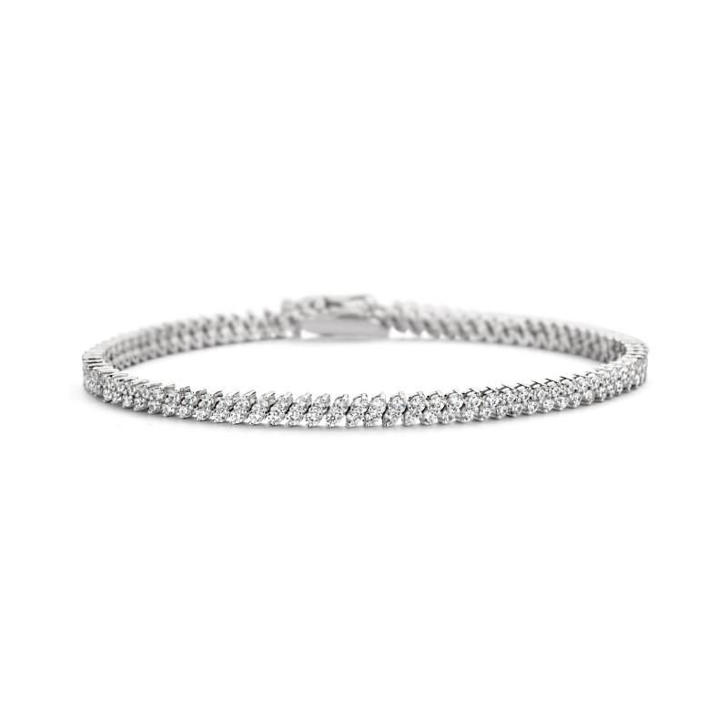 Zilveren tennisarmband met zirkonia