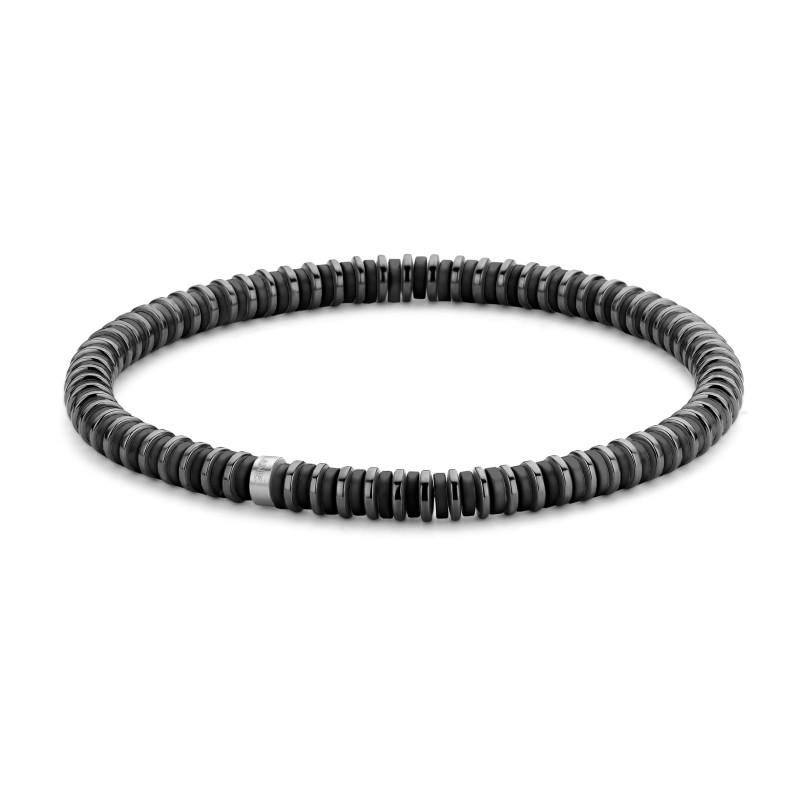 Armband met hematiet en natuursteen 7FB-0452