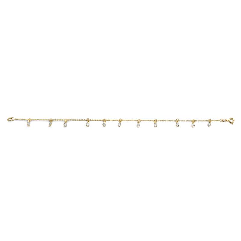 Geelgouden armband met zirkonia 050398-ZI