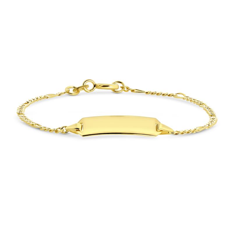 Gouden plaatarmband 14cm P005530525140