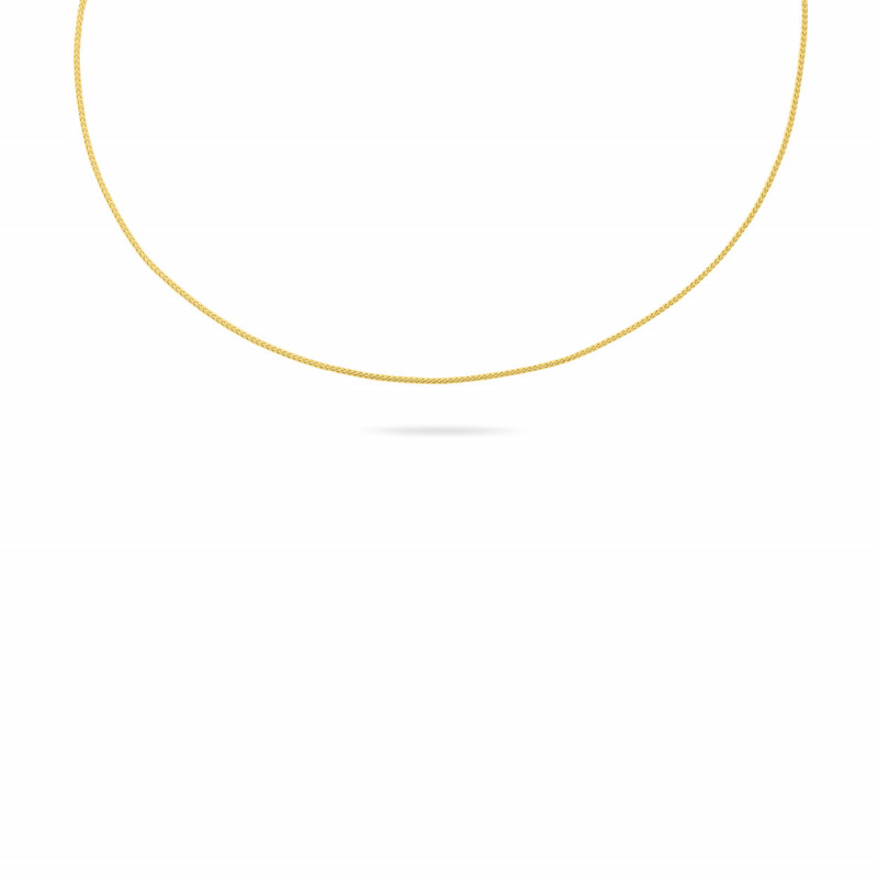 Geelgoud schakel collier 1,1mm