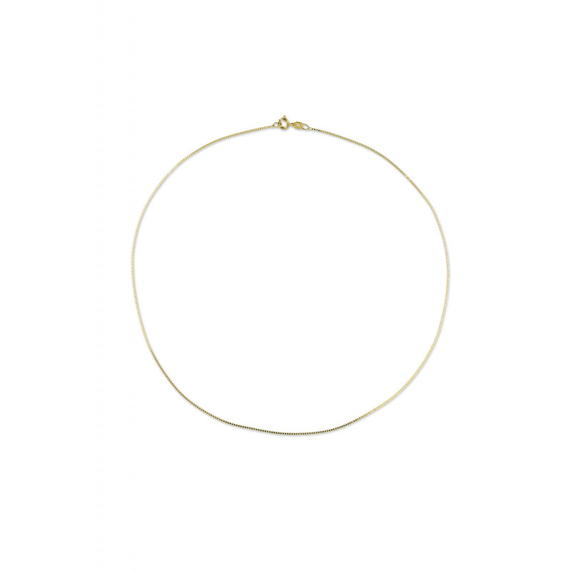 Gouden venetiaans collier 45cm BOX-45-0.8Y