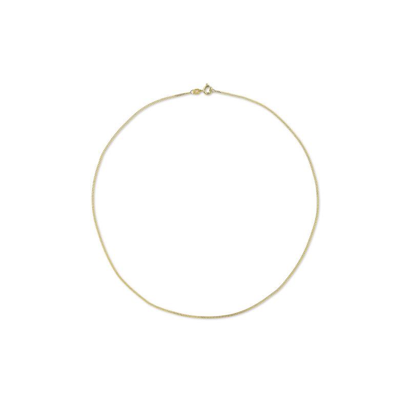 Gouden gourmet collier 38cm CURB-38-0.8Y