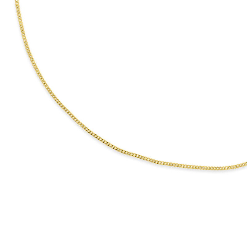Geelgouden gourmet collier 42cm CURB-42-1.4Y