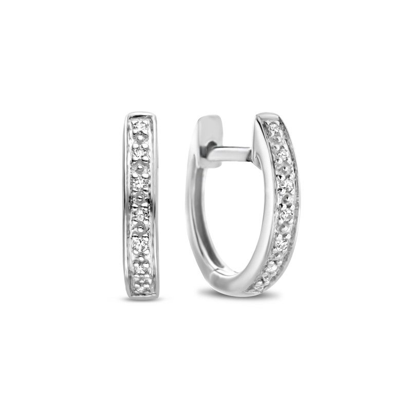 Witgouden oorringen met diamant 4569E010
