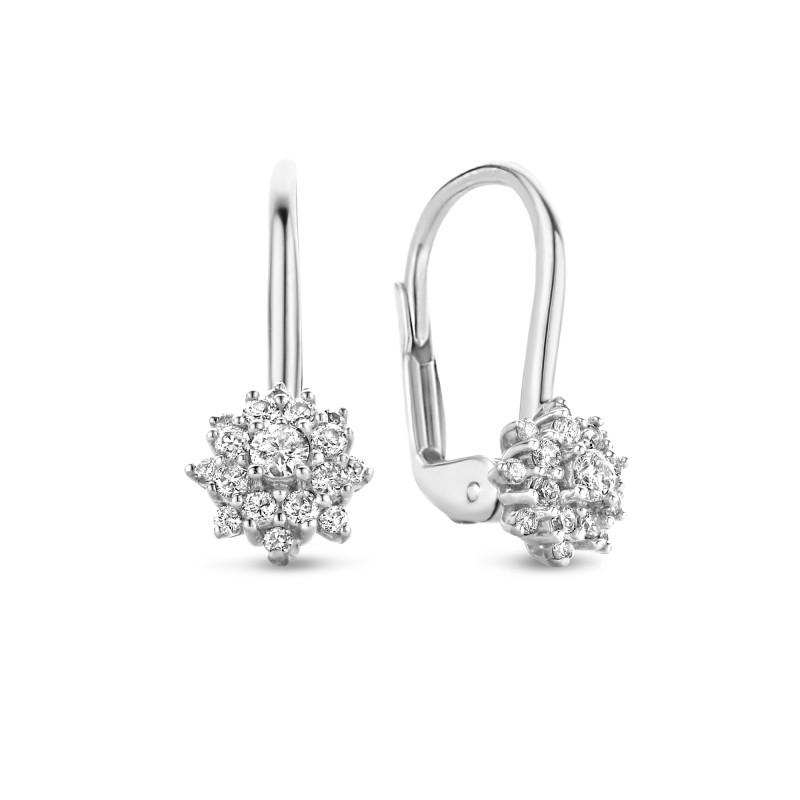 Witgouden oorhangers 0.29 ct diamant
