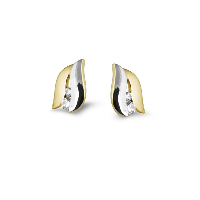 Bicolor oorsieraden met zirkonia CE203284YWFCZ