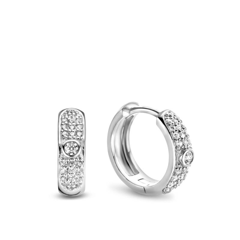 Zilveren oorringen met zirkonia TBO58629-03