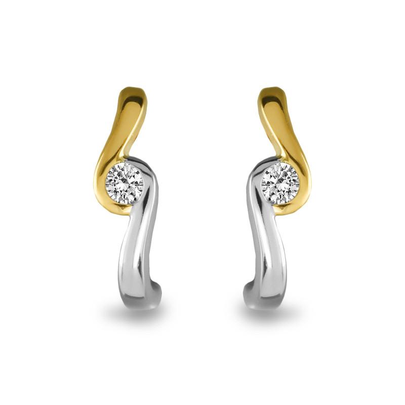 Gouden bicolor oorknoppen SOL-M942-005-G2