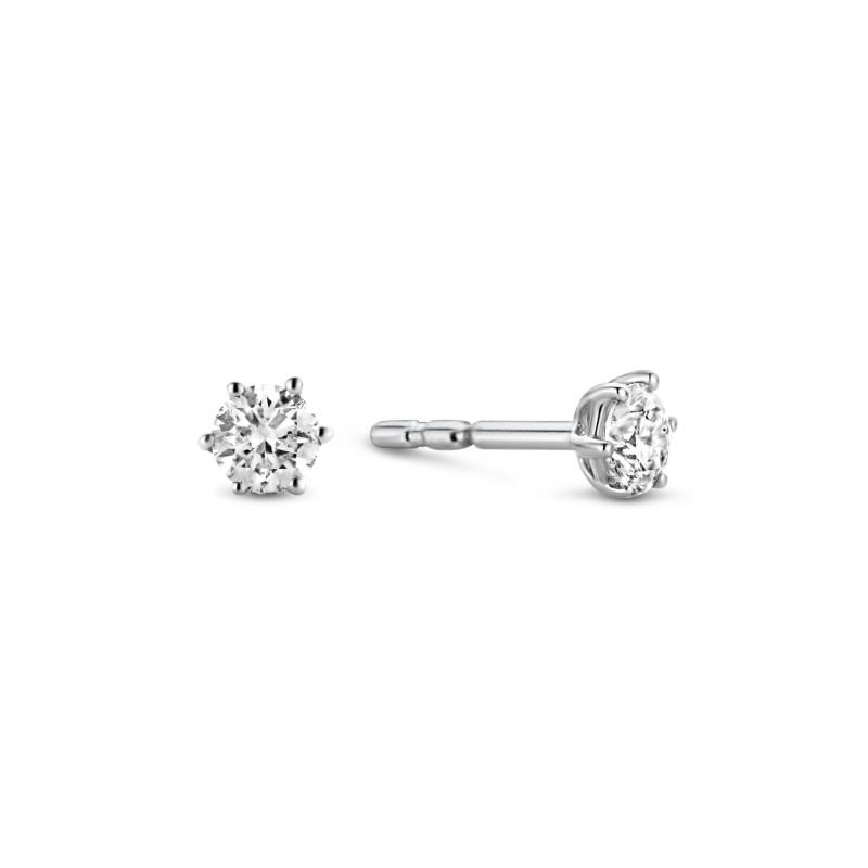 Witgouden diamant oorknoppen SOL-W234-025-G2