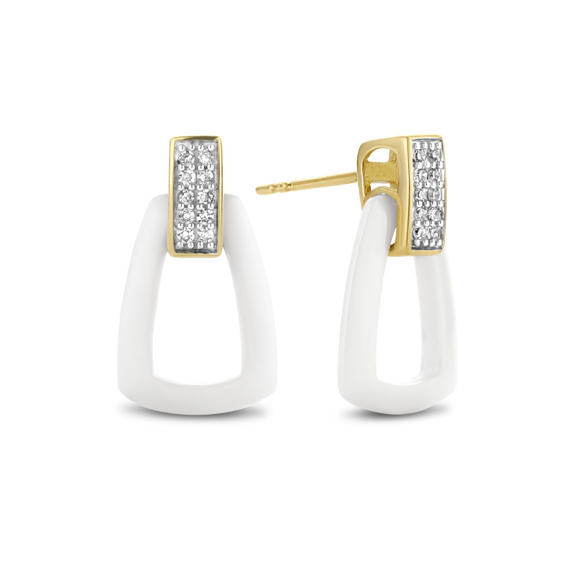 Oorknoppen met diamant en keramiek 765901782