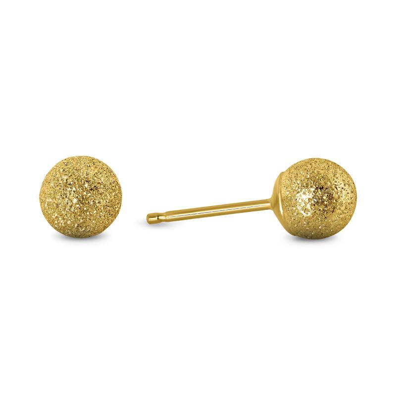 Gouden oorknoppen bol 5mm 61467ORTP5MLZ