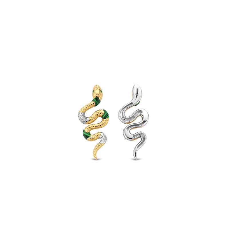 Zilveren oorbellen met smaragd 7827EM