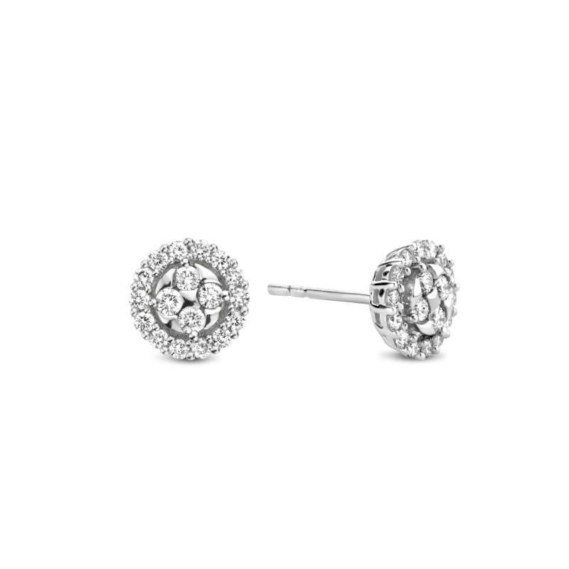 Witgouden oorknoppen 0.50 ct diamant