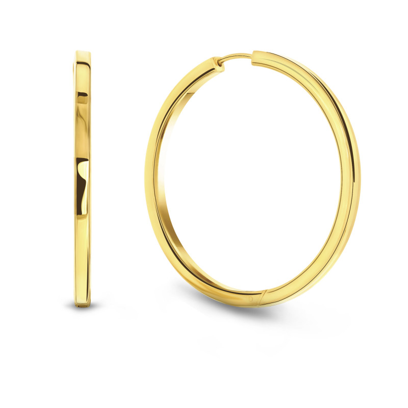 Gold plated oorringen 02.2438.35