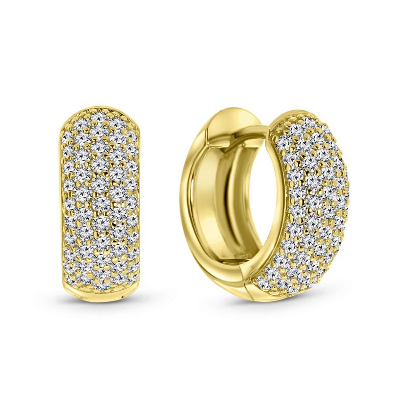 Gold plated oorringen met zirkonia 02.990Z.35