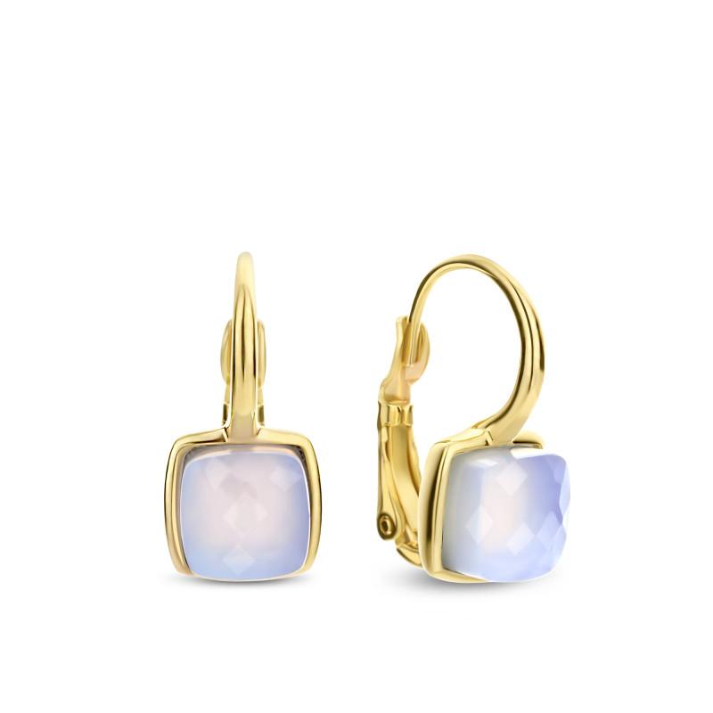Gold plated oorhangers met chalcedoon 03.446CA.35