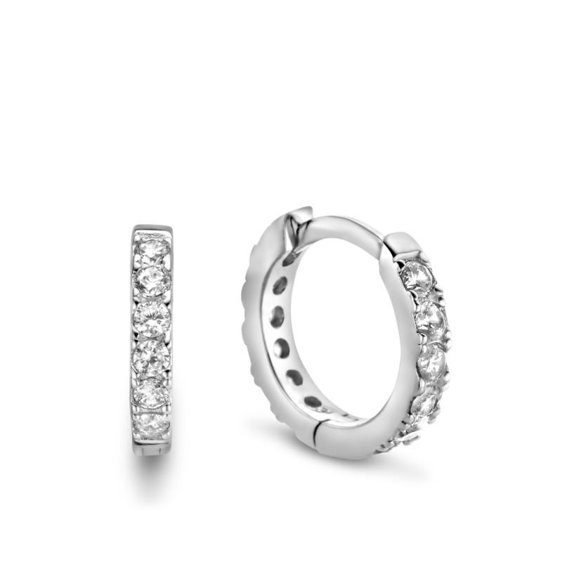 Zilveren oorringen met zirkonia TCP11904