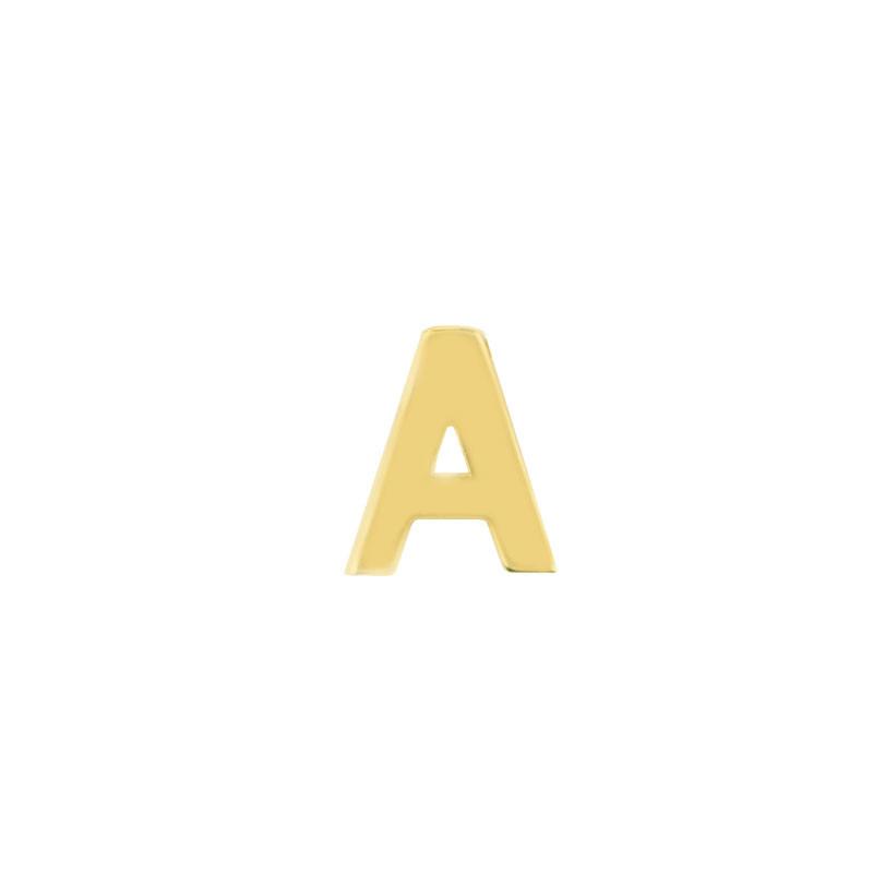 Geelgouden oorknop 'A'