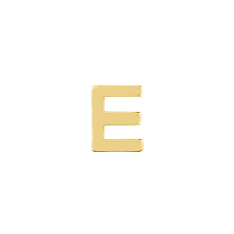 Geelgouden oorknop 'E'