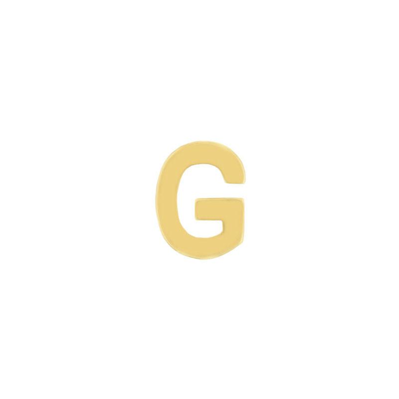 Geelgouden oorknop 'G'